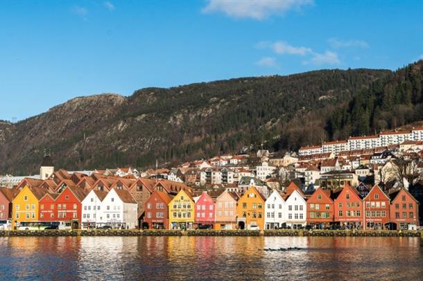 Bilde av bryggen i Bergen