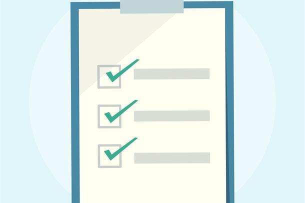 Bilde av en liste med avsjekkede punkter fra rawpixel.com